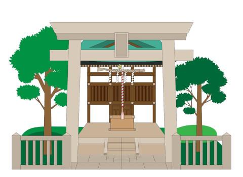 氏神神社への参拝