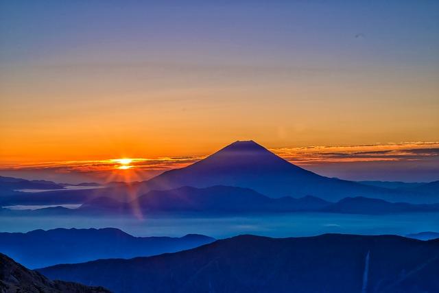 富士山の光景