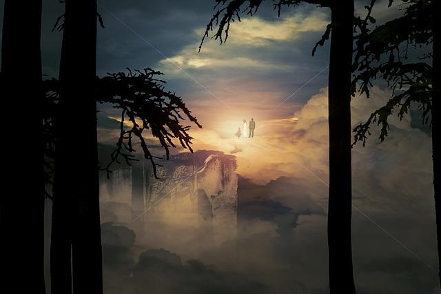 朝日と霊の浄化